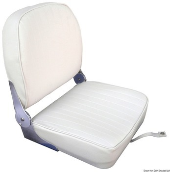 SEAT WITH FOLDABLE BACK, WHITE