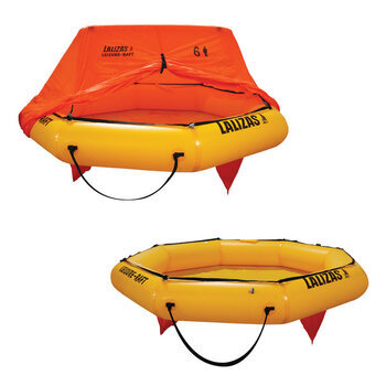 Foto - LIFERAFT FOR 6 PERSONS, LEISURE-RAFT, BAG