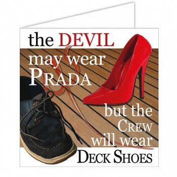 Foto - NAUTICAL GREETING CARD- THE DEVIL MAY..