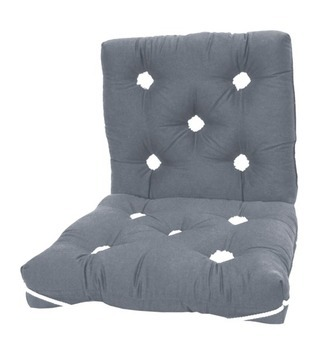 Foto - SEAT CUSHION WITH BACK, 470 x 470 mm, GREY